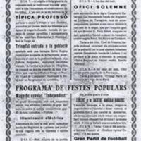Programa de la Festa Major del 1923