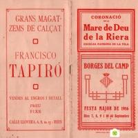 Programa de Festa Major del 1916