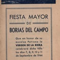 Programa de la Festa Major del 1944