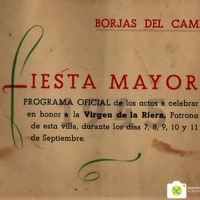 Programa de la Festa Major del 1945