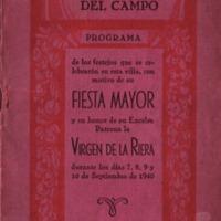 Programa de la Festa Major del 1940
